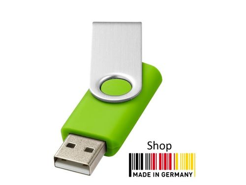 1GB USB Flash Drive Swivel Grün