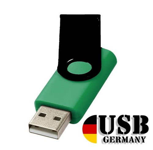 4GB USB Flash Drive Swivel DarkGrün Schwarz