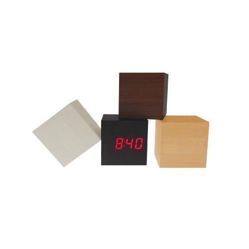 Office-Cube-Wecker-LED-Uhr-Holzbox-red-LED-Anzeige-inkl-UBS-Kabel-Netzstecker-hellbraun-376146689